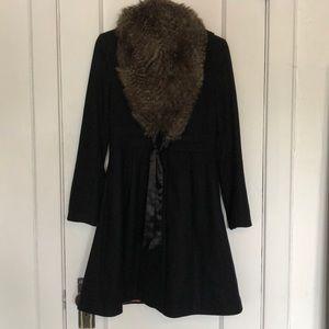 H&M p coat with faux fur wrap